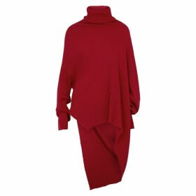 MARQUES' ALMEIDA Red Draped Wool Jumper