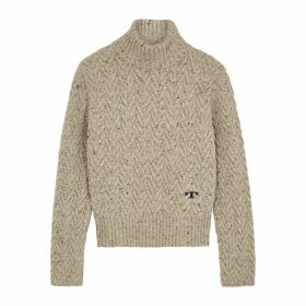 Tory Burch Stone Chunky-knit Wool Jumper