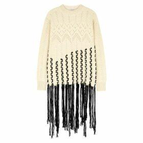 Loewe Ecru Fringed Wool-blend Jumper