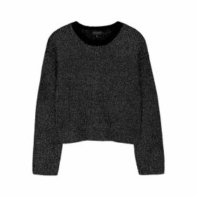 Rag & Bone Jubilee Black Metallic-weave Jumper