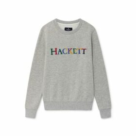 Hackett Archive Logo Detail Cotton Blend Crew Neck Sweater
