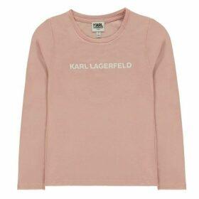 Karl Lagerfeld Logo Jersey Long Sleeve T Shirt