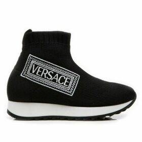 VERSACE Logo Sock Trainer