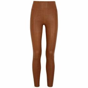 SPRWMN Brown Leather Leggings