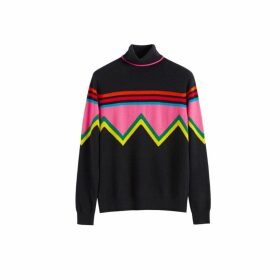 Chinti & Parker Navy Ski Slope Wool-cashmere Roll Neck Sweater