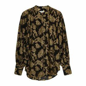 Equipment Boleyn Fil Coupé Silk-blend Blouse
