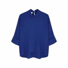 Mark Kenly Domino Tan Bailee Cobalt Cady Blouse