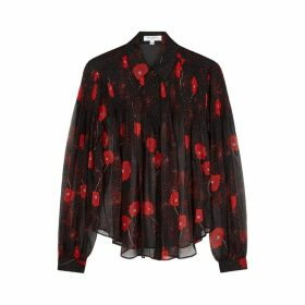 Equipment Jaslyn Poppy-print Silk-chiffon Blouse