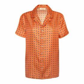 Lisou Victoire Unisex Silk Comet Print Shirt