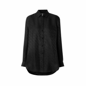 Burberry Monogram Silk Jacquard Shirt