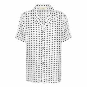 Lisou Victoire Unisex White Lip Print Shirt