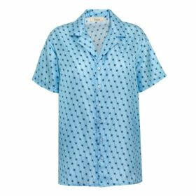 Lisou Victoire Silk Blue Shooting Star Print Shirt
