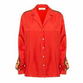 Lisou Machi Machi Red Silk Shirt