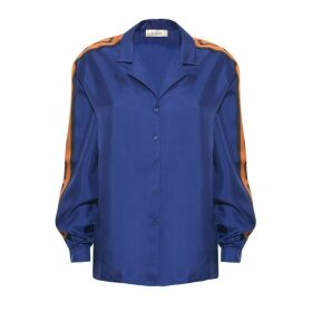 Lisou Machi Machi Blue Silk Shirt