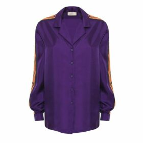 Lisou Machi Machi Purple Silk Shirt