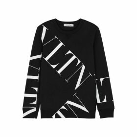 Valentino VLTN-print Cotton-blend Sweatshirt
