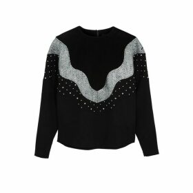 Isabel Marant Valia Black Sequin-embellished Sweatshirt