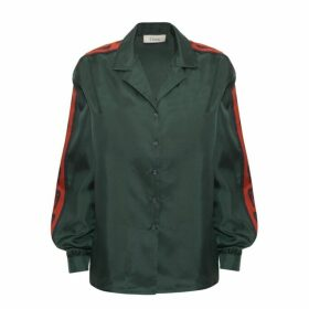 Lisou Machi Machi Green Silk Shirt