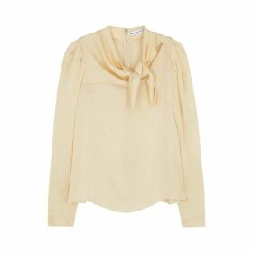 Rejina Pyo Ines Cream Silk Blouse