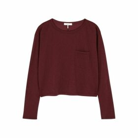 Rag & Bone Burgundy Slubbed Cotton Top