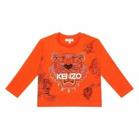 Kenzo Orange Long Sleeved Top