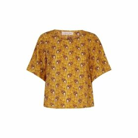 Traffic People Paisley Whisper Top In Yellow