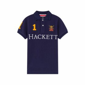 Hackett Army Logo Detail Cotton Short-sleeved Polo Shirt