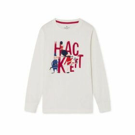 Hackett Soldier Motif Cotton Long-sleeved T-shirt