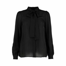 MICHAEL Michael Kors Silk Georgette Tie-neck Blouse