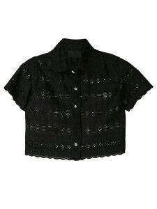 Andrea Bogosian laise cropped shirt - Black