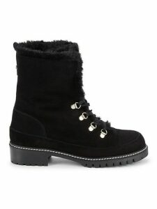 Luge Faux Fur-Lined Suede Boots
