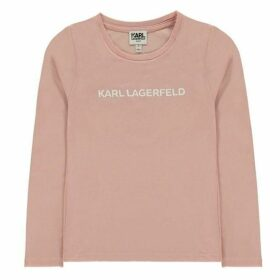 Karl Lagerfeld Logo Jersey Long Sleeve T Shirt
