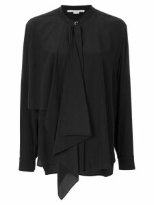 Stella McCartney draped-panel blouse - Black