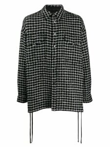 Faith Connexion checked tweed shirt jacket - Black