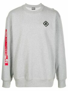 Diesel Recycled fabric sweatshirt with print - Grey