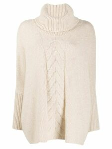 N.Peal cable knit oversized jumper - NEUTRALS