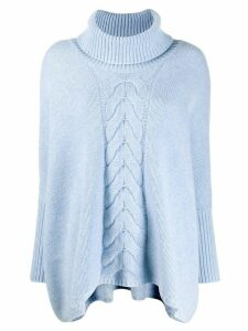 N.Peal cable knit pullover - Blue