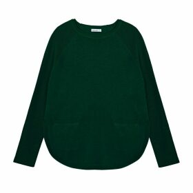 IGGY & BURT - Pocket Curve Jumper In Forest Green