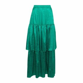 Giannina Capitani - Dash Wide Scarf In Brown, Blue, Yellow & Pink