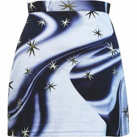 Giannina Capitani - Dash Blanket Scarf In Grey, Red, Black & Aqua