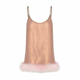 IN. NO - Betsy Pink Feather Bronze Top