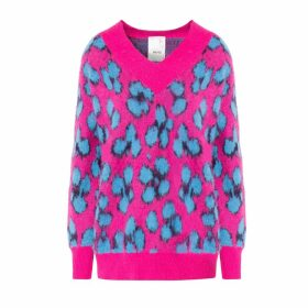 IN. NO - Norma Pink Animal Print Knit