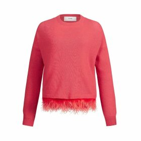 IN. NO - Papaya Icelyn Feather Sweater