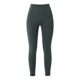 PAISIE - Cropped Top With Contrasting Ruffle Hem In Navy & White