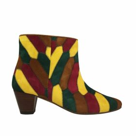 PAISIE - Soft Knitted Top With Sheer Sleeves & Cuff Splits In Green