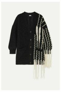 Loewe - Fringed Wool-blend Cardigan - Black