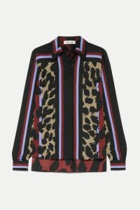 Diane von Furstenberg - Mai Printed Silk-blend Satin Blouse - Red