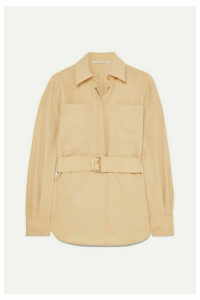 Stella McCartney - Belted Wool-twill Shirt - Beige