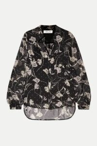 Diane von Furstenberg - Lorelei Printed Silk-chiffon Blouse - Black