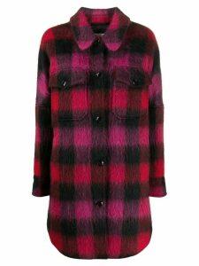 Woolrich check print shirt coat - Red